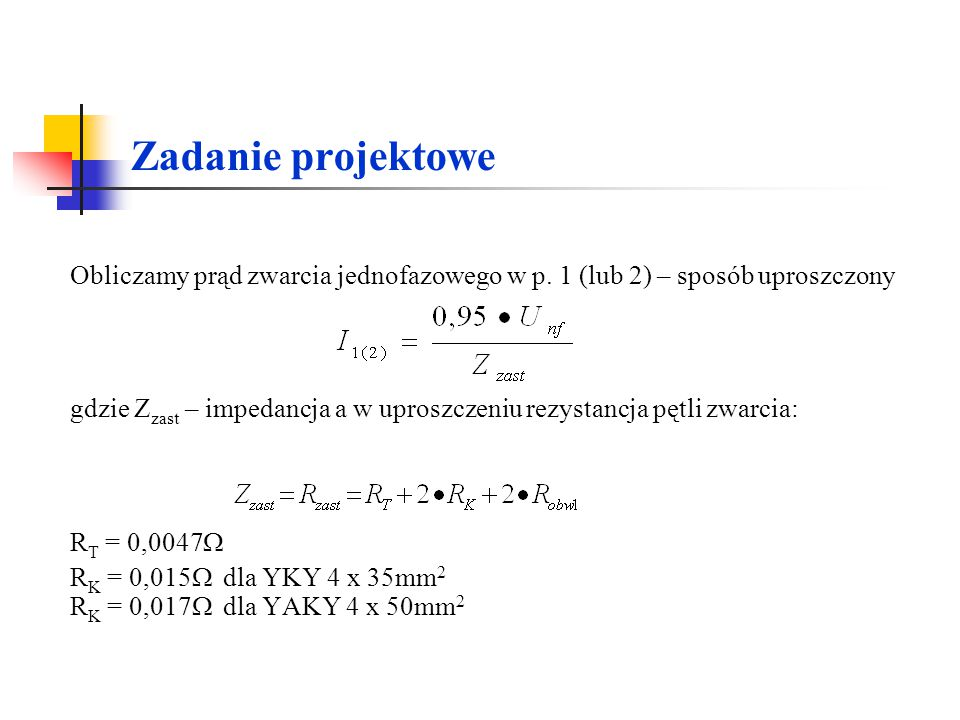 Zadanie projektowe RT = 0,0047