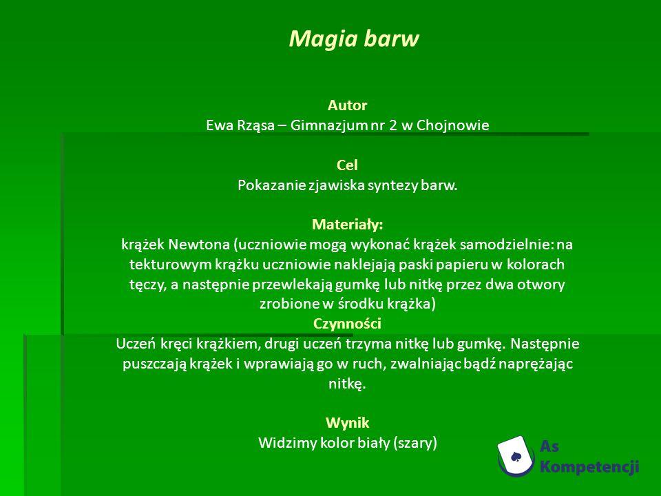 Magia barw Autor Ewa Rząsa – Gimnazjum nr 2 w Chojnowie Cel