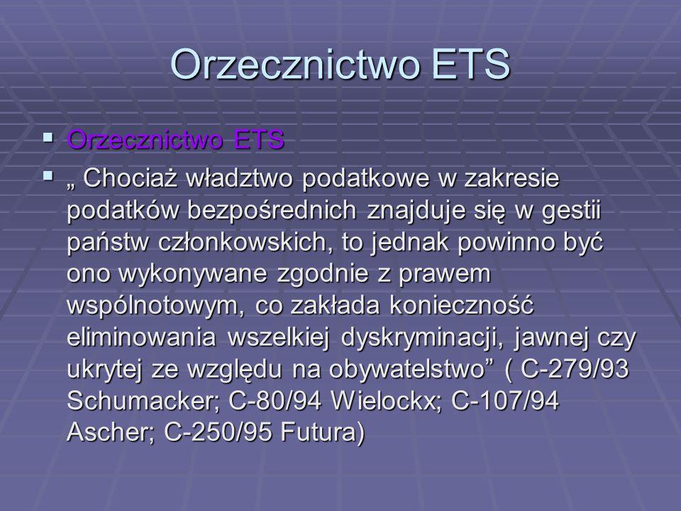 Orzecznictwo ETS Orzecznictwo ETS