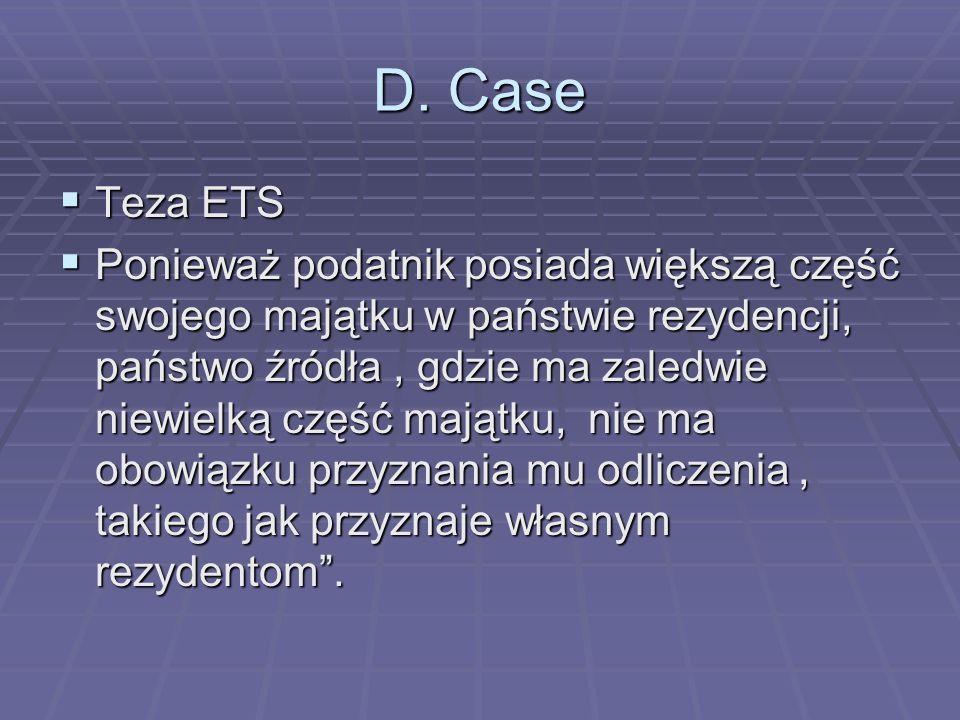D. Case Teza ETS.
