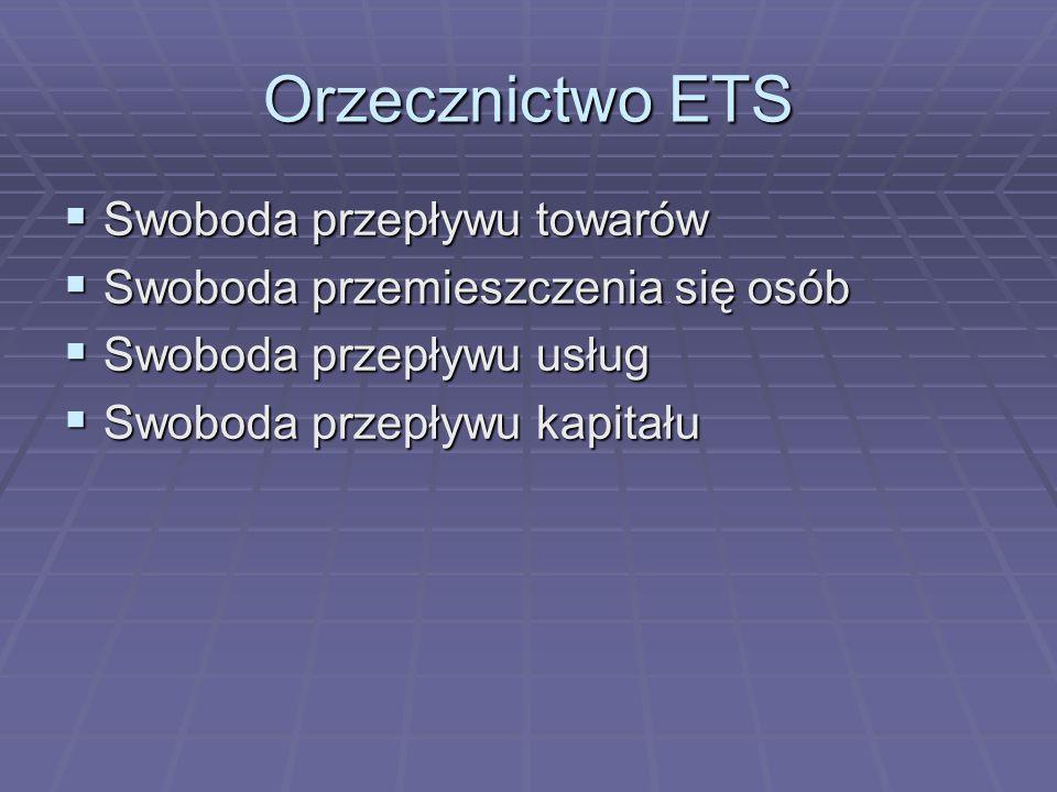 Orzecznictwo ETS Swoboda przepływu towarów