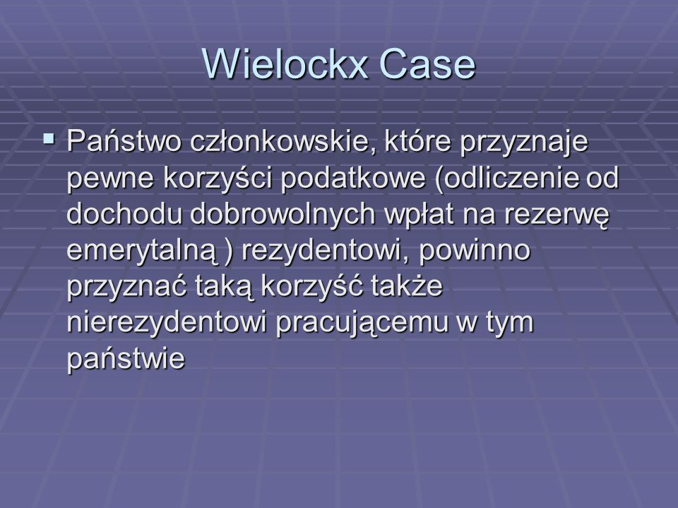 Wielockx Case