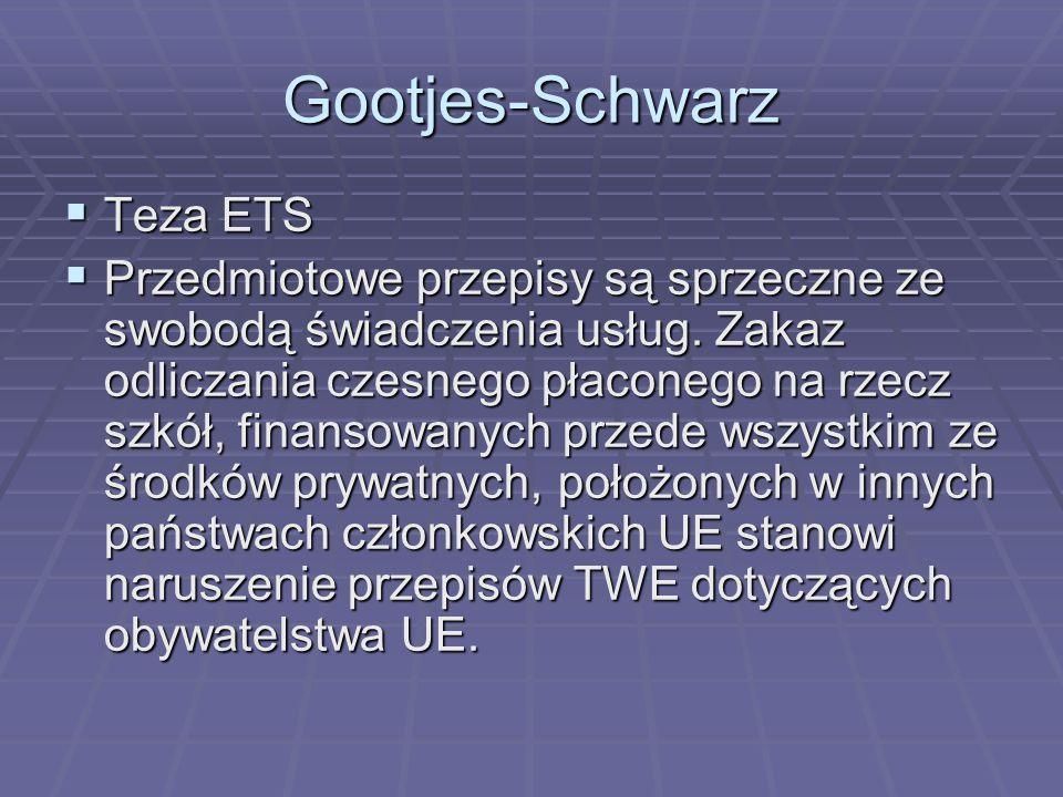 Gootjes-Schwarz Teza ETS