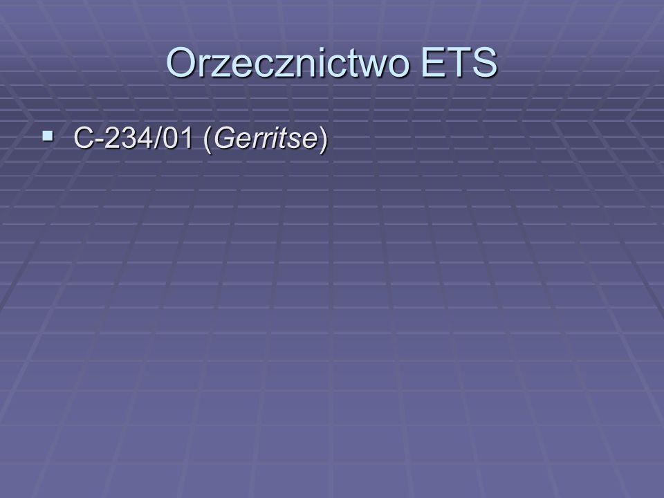 Orzecznictwo ETS C-234/01 (Gerritse)