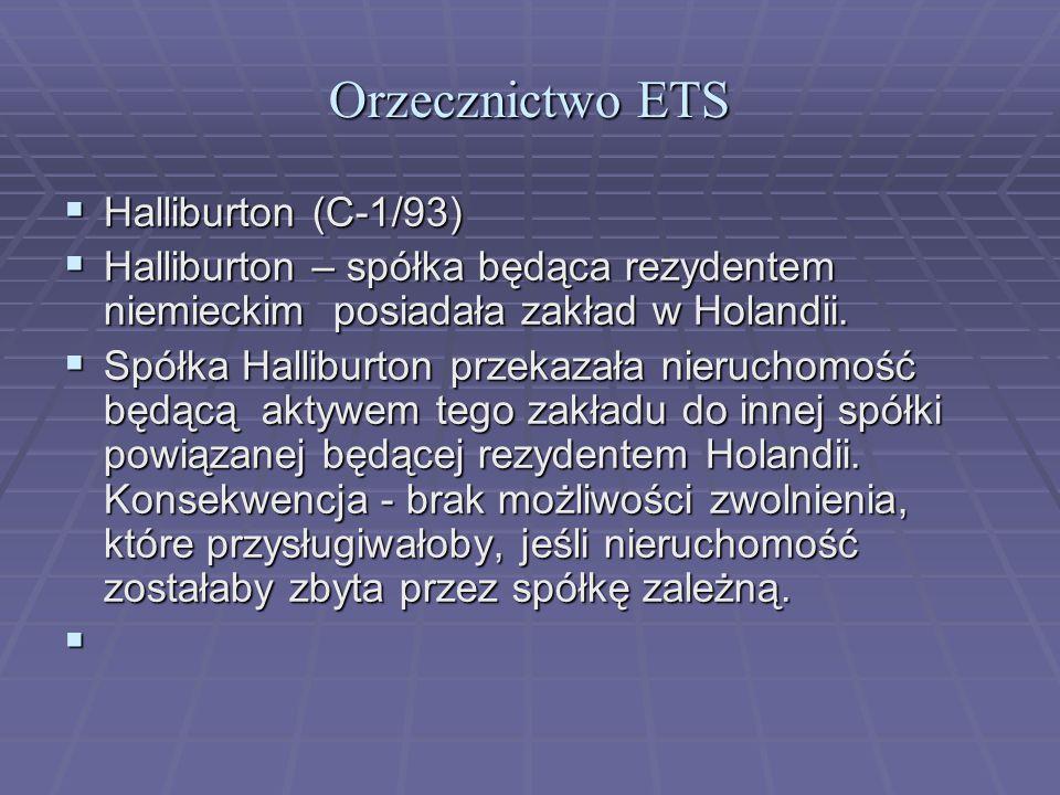 Orzecznictwo ETS Halliburton (C-1/93)