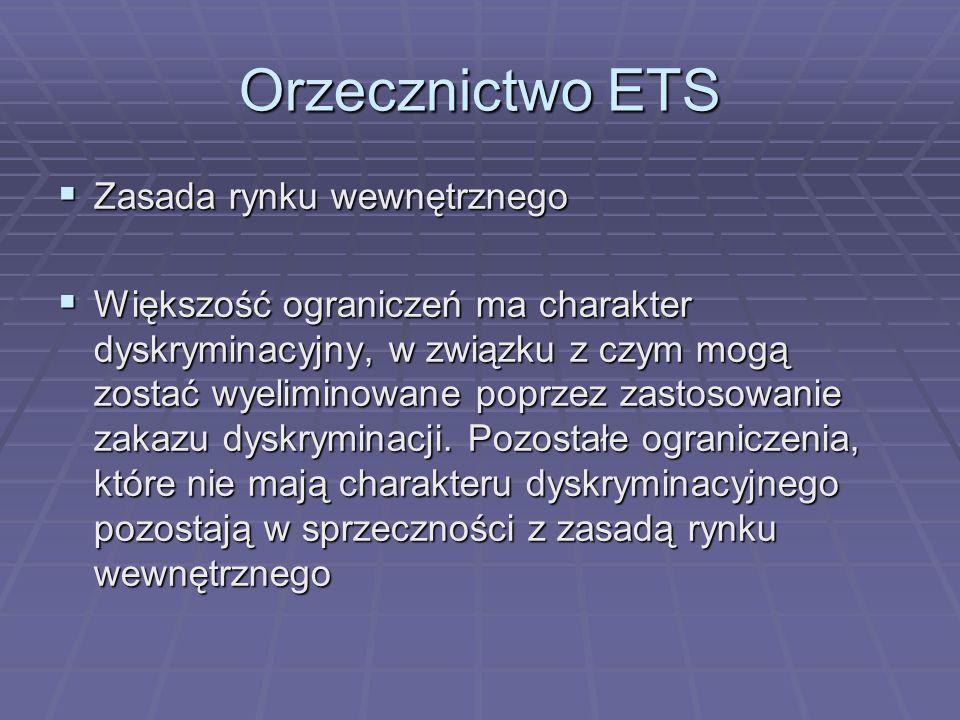 Orzecznictwo ETS Zasada rynku wewnętrznego