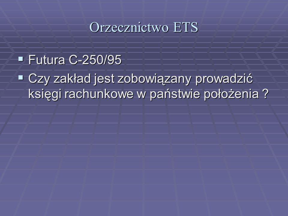 Orzecznictwo ETS Futura C-250/95