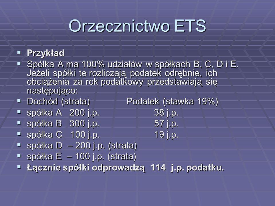 Orzecznictwo ETS Przykład