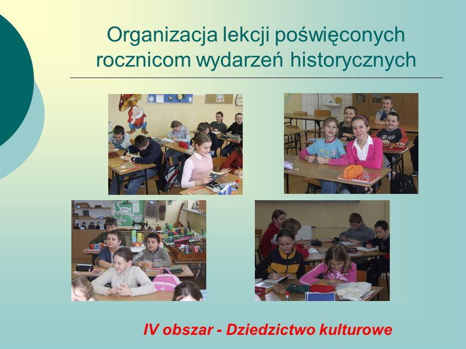 Organizacja lekcji poświęconych rocznicom wydarzeń historycznych