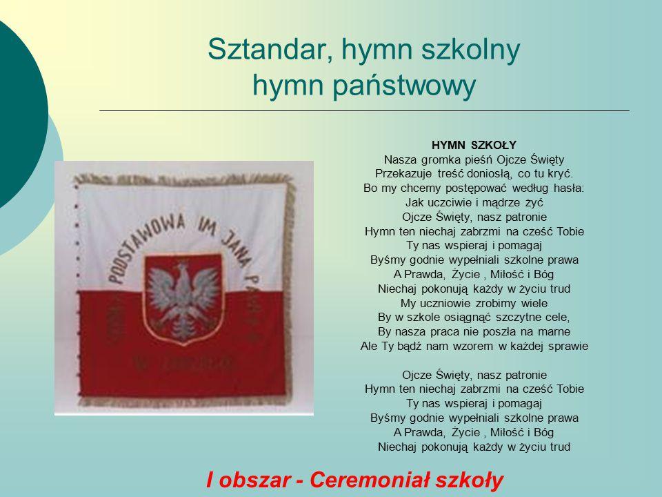 Sztandar, hymn szkolny hymn państwowy