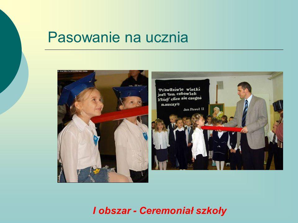 I obszar - Ceremoniał szkoły