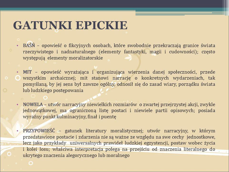 GATUNKI EPICKIE