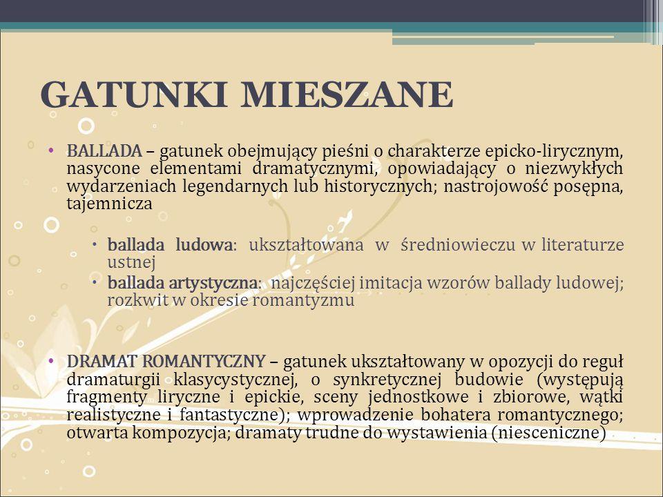 GATUNKI MIESZANE