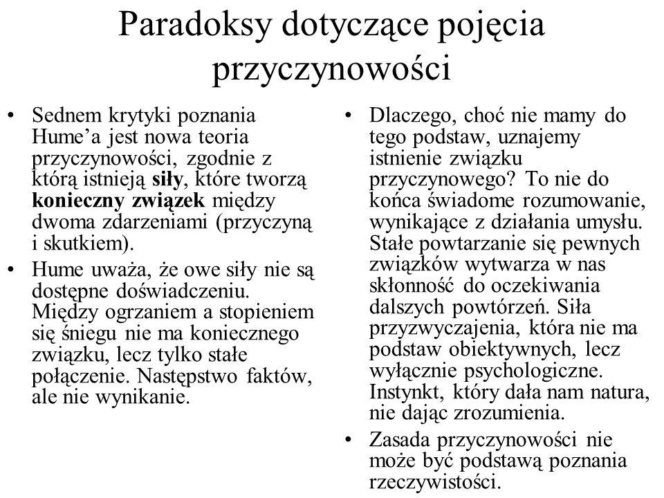 Paradoksy dotyczące pojęcia przyczynowości