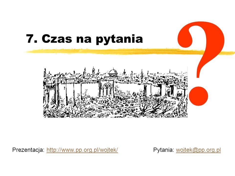 Prezentacja: http://www.pp.org.pl/wojtek/ Pytania: wojtek@pp.org.pl