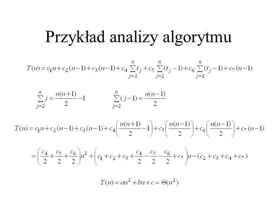 Przykład analizy algorytmu