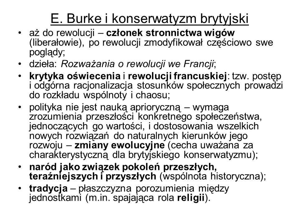 E. Burke i konserwatyzm brytyjski