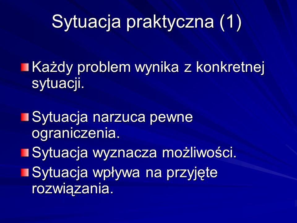 Sytuacja praktyczna (1)