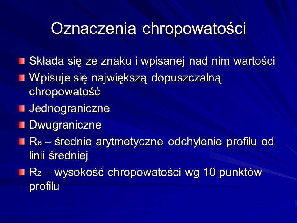 Oznaczenia chropowatości