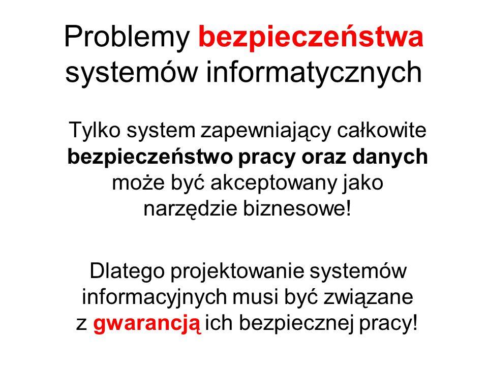 Problemy bezpieczeństwa systemów informatycznych