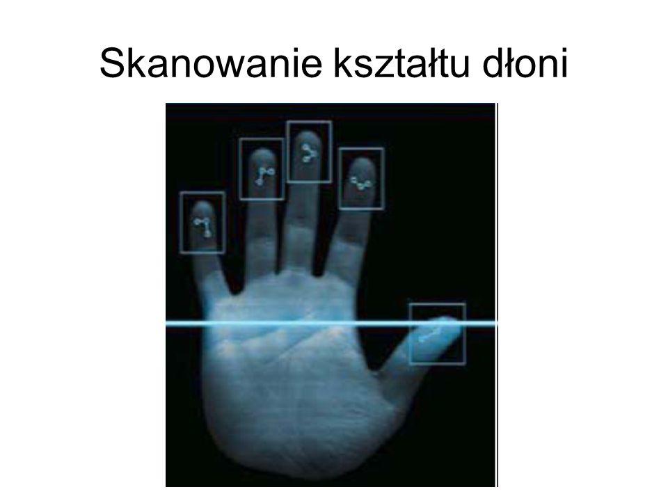 Skanowanie kształtu dłoni