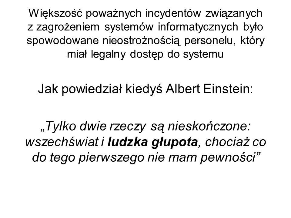 Jak powiedział kiedyś Albert Einstein: