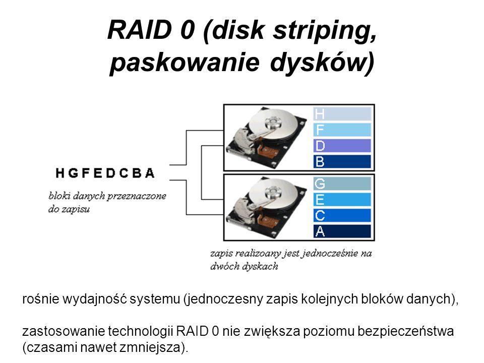 RAID 0 (disk striping, paskowanie dysków)