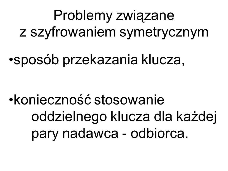 Problemy związane z szyfrowaniem symetrycznym