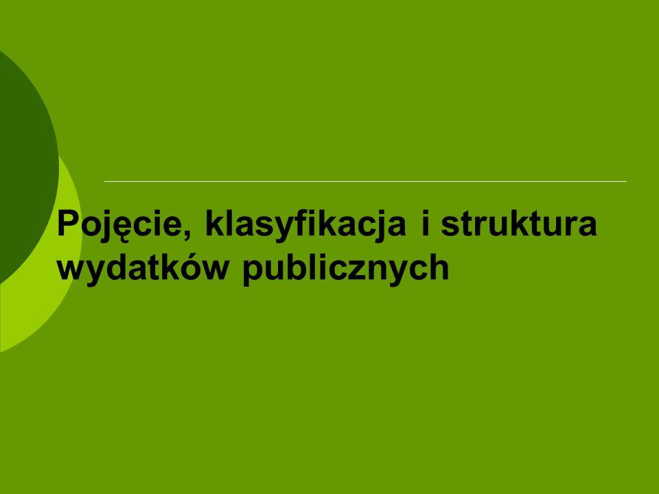 Pojęcie, klasyfikacja i struktura wydatków publicznych