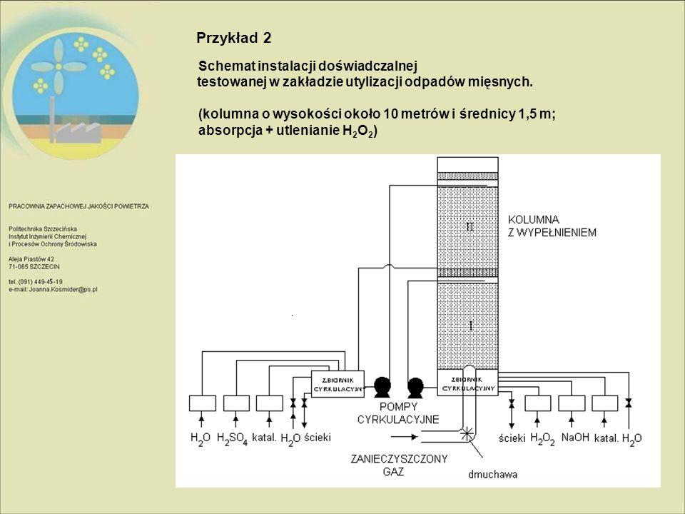 Schemat instalacji doświadczalnej testowanej w zakładzie utylizacji odpadów mięsnych.