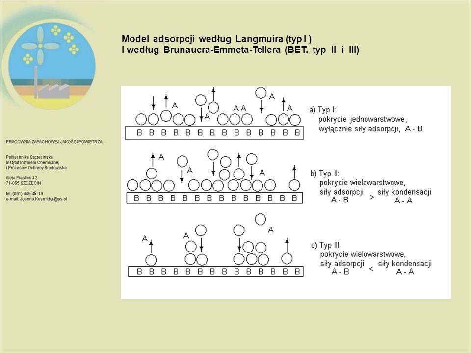 Model adsorpcji według Langmuira (typ I )
