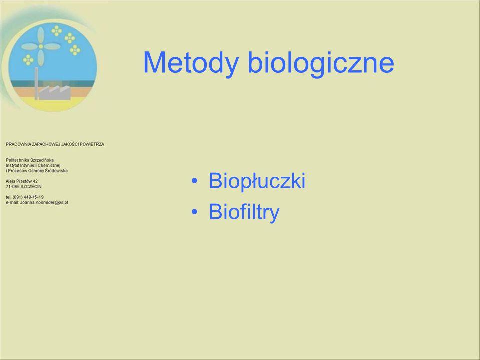 Metody biologiczne Biopłuczki Biofiltry