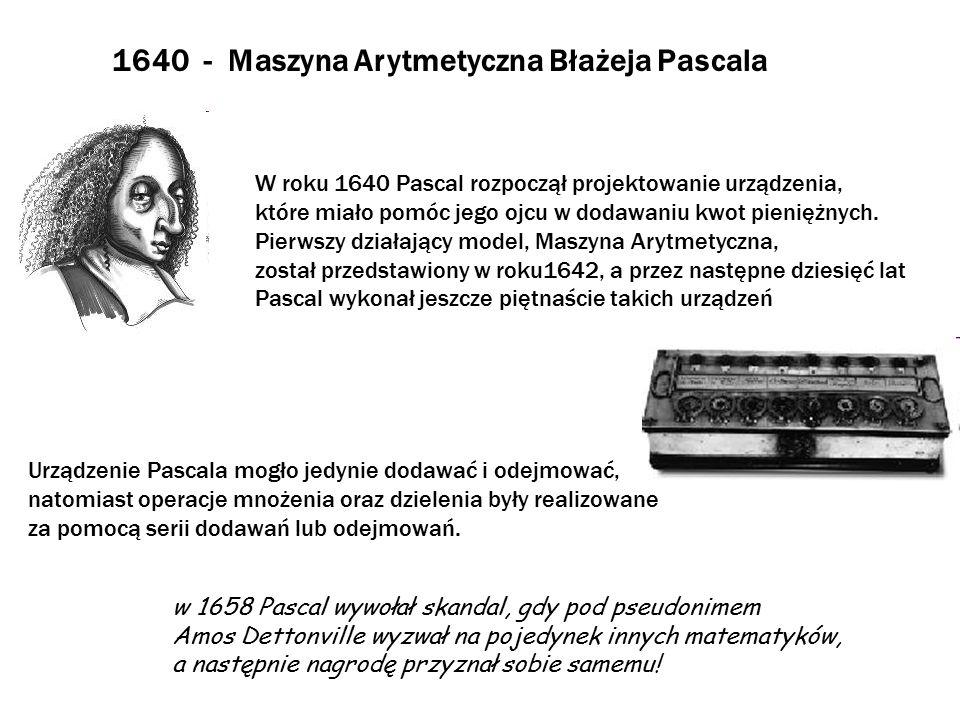 1640 - Maszyna Arytmetyczna Błażeja Pascala