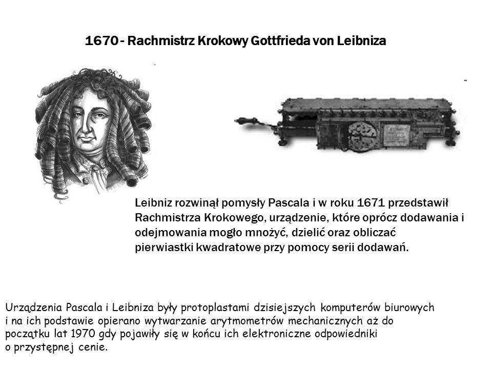 1670 - Rachmistrz Krokowy Gottfrieda von Leibniza
