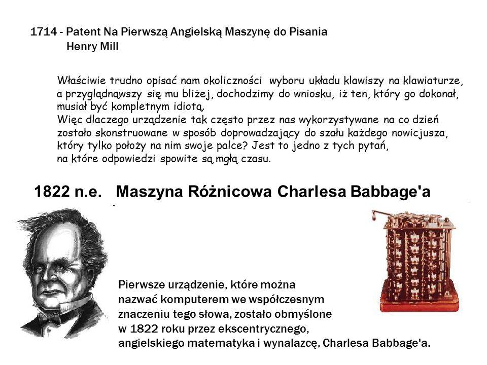 1822 n.e. Maszyna Różnicowa Charlesa Babbage a
