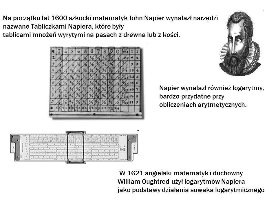 Na początku lat 1600 szkocki matematyk John Napier wynalazł narzędzie