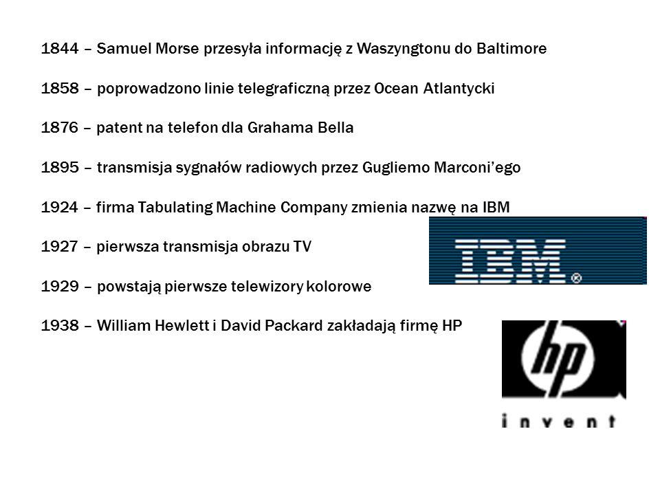 1844 – Samuel Morse przesyła informację z Waszyngtonu do Baltimore