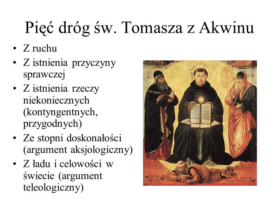 Pięć dróg św. Tomasza z Akwinu