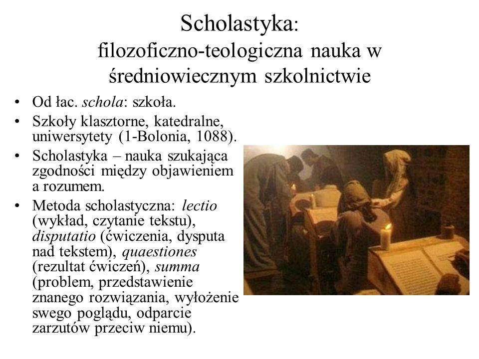 Scholastyka: filozoficzno-teologiczna nauka w średniowiecznym szkolnictwie