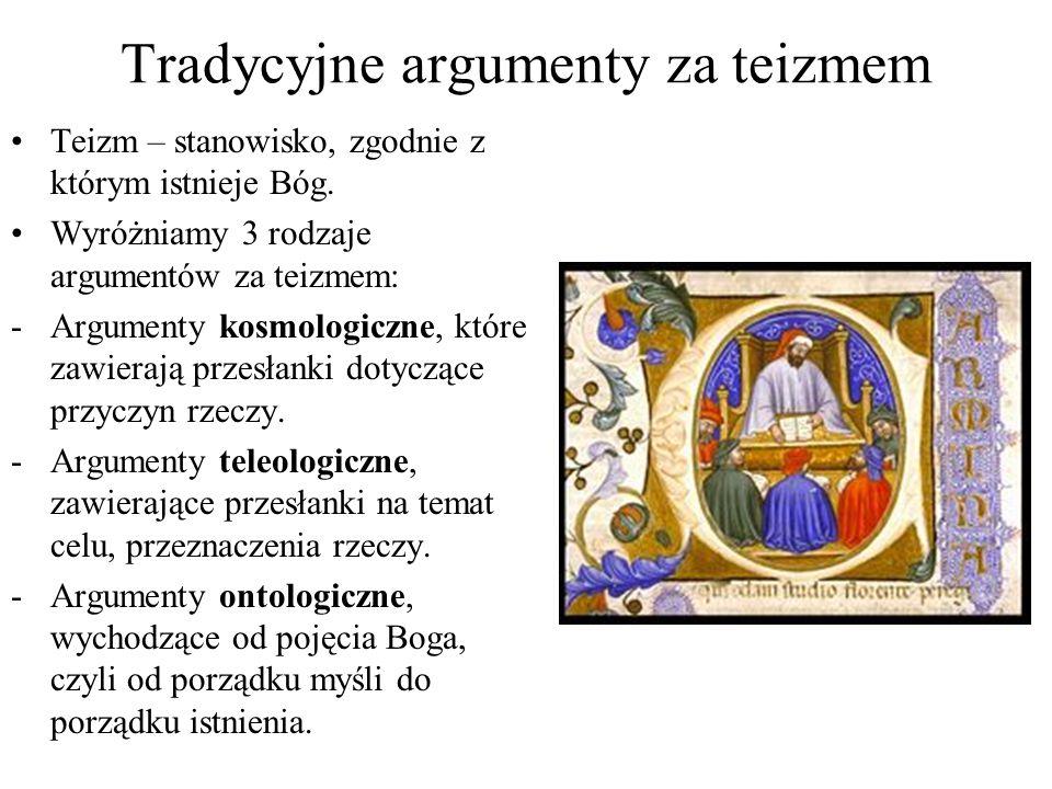 Tradycyjne argumenty za teizmem