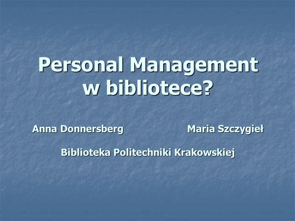 Personal Management w bibliotece