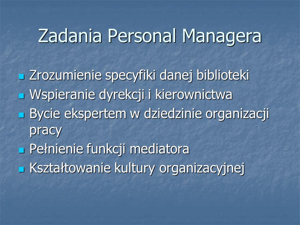 Zadania Personal Managera