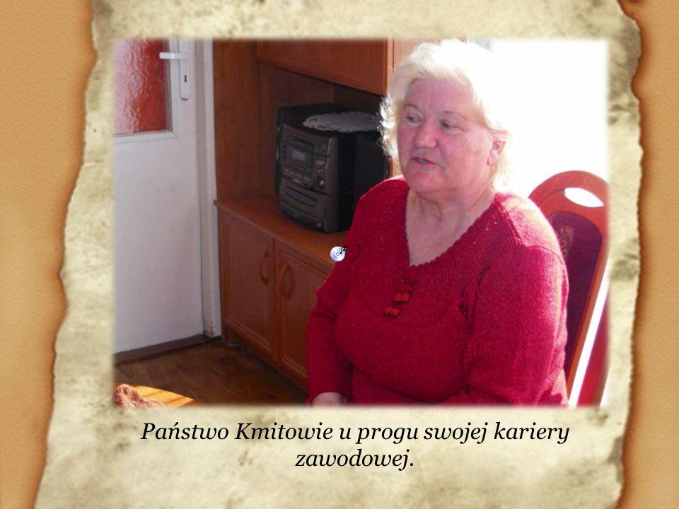 Państwo Kmitowie u progu swojej kariery zawodowej.