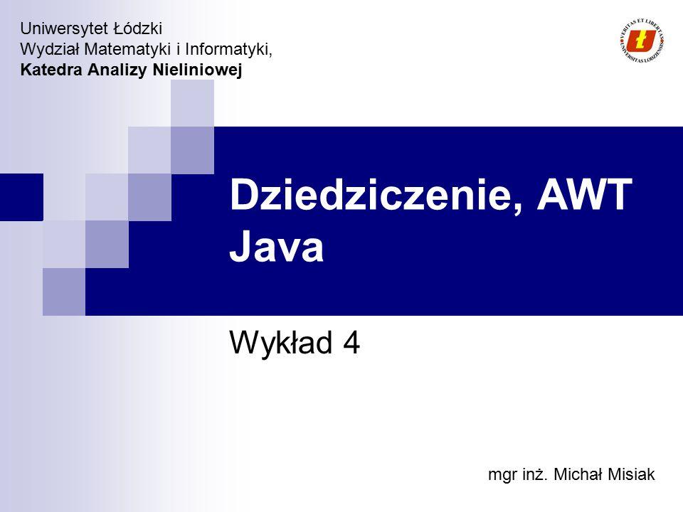 Dziedziczenie, AWT Java