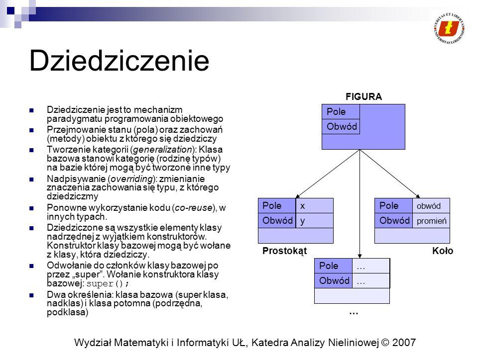 Dziedziczenie FIGURA. Dziedziczenie jest to mechanizm paradygmatu programowania obiektowego.