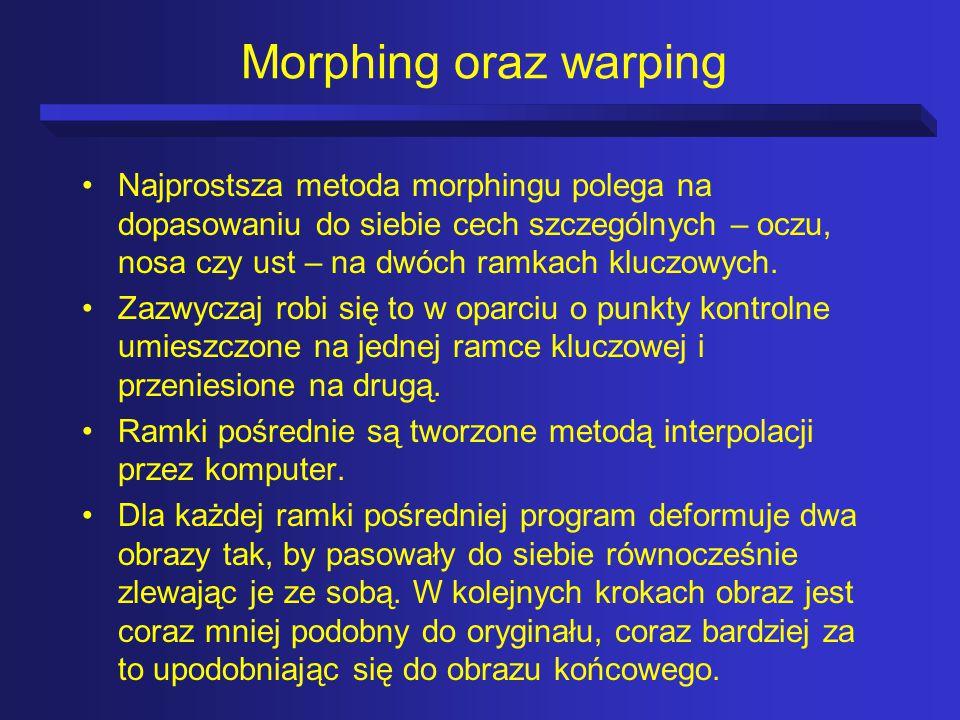 Morphing oraz warping