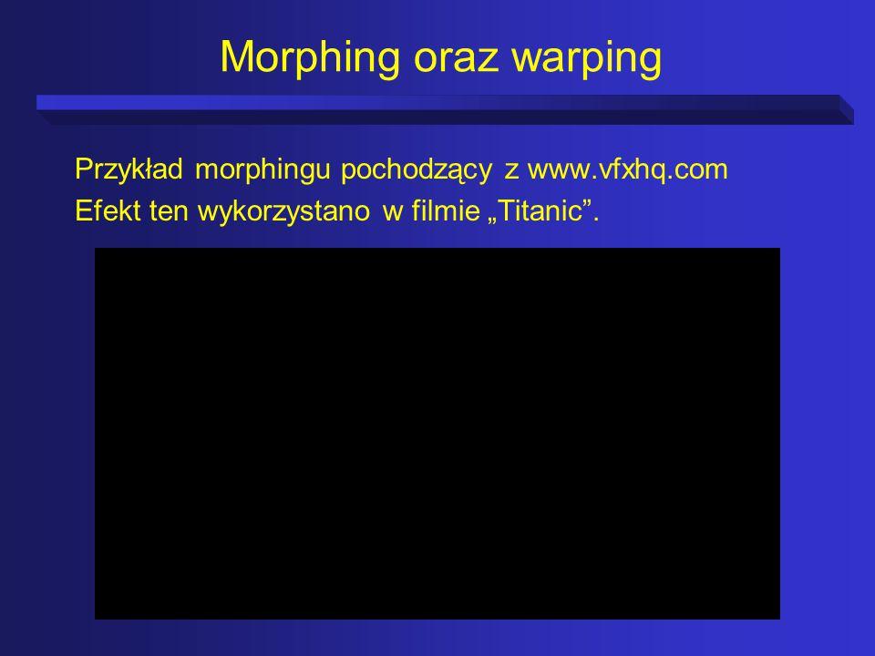 Morphing oraz warping Przykład morphingu pochodzący z www.vfxhq.com