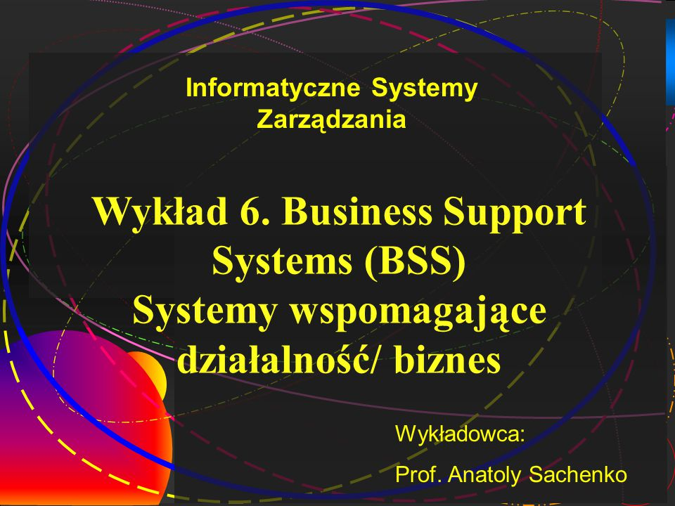 Wykład 6. Business Support Systems (BSS)
