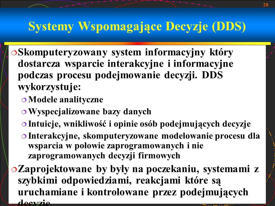 Systemy Wspomagające Decyzje (DDS)