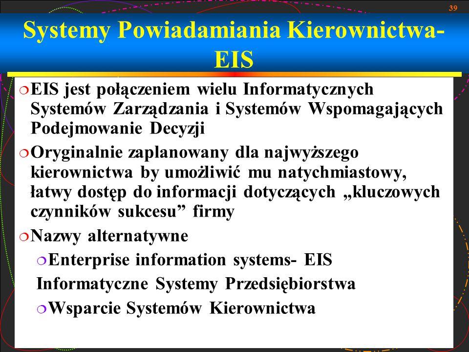 Systemy Powiadamiania Kierownictwa- EIS